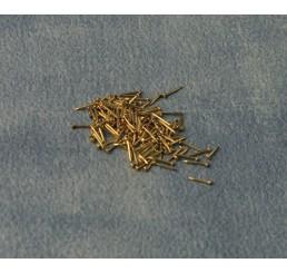 Messing spijkertjes, 100 stuks  5 a 6 mm