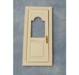 Witte voordeur met raam