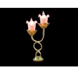 Tafellamp, 2-pits, kelk