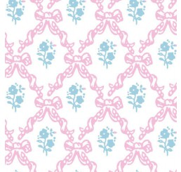 Poppenhuis behang Melissa, roze met blauw