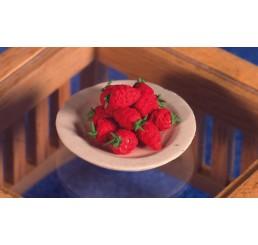 Bord met aardbeien
