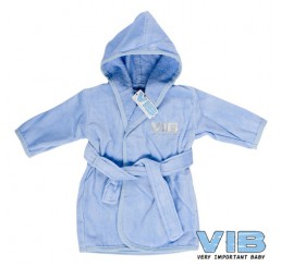 Badjas 'VIB' Licht Blauw+Zilver