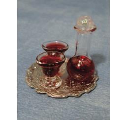 Dienblad met gevuld glaswerk