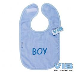Slabber 'BABY BOY' Licht Blauw+Blauw