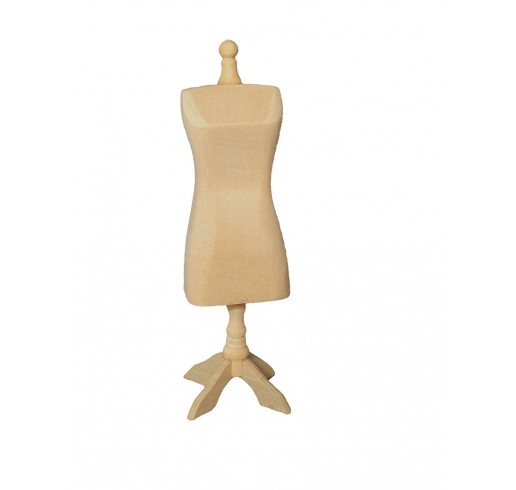 kleermakerspop blank hout