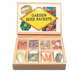 Kistje met assortiment tuinzaden