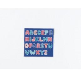 Blauw alfabet kleed