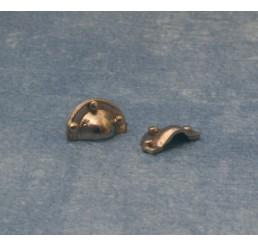 Zilveren trekgreep, 2 stuks