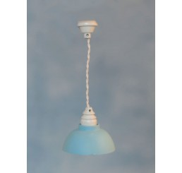 Hanglamp met blauwe kap