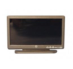 Widescreen TV, zwart, bronskleurig