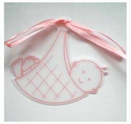 Roze geboorte tag