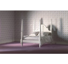 wit 2 persoons bed