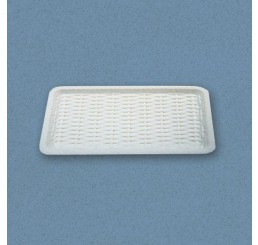 Dienblad met vlechtwerk, wit