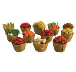 12 Mandjes fruit of groente
