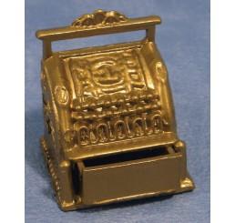Metalen goudkleurige kassa