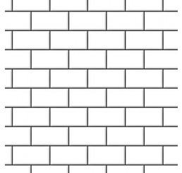 Witte muurstenen met relief