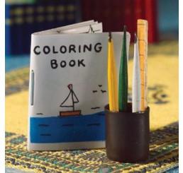 Kleurboek met kleurpotlodenset