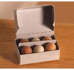 Doos met 6 verse eieren
