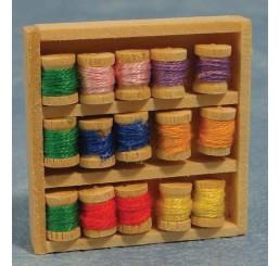 houten Doos met naaigarens