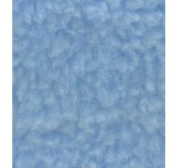 Teddypluche gekruld blauw