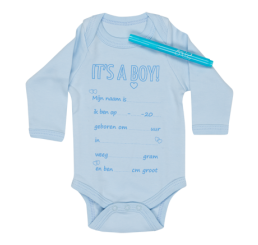 Romper-It's a boy met stift