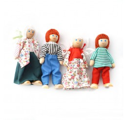 4 Doll Family Set