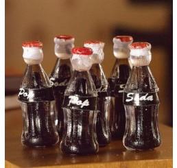 Flessen cola, 6 stuks