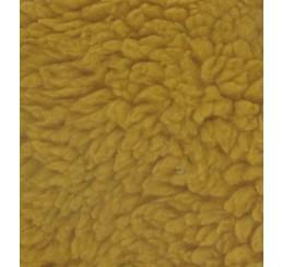 Teddypluche gekruld katoen goud geel