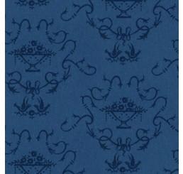 Poppenhuis behang, blauw