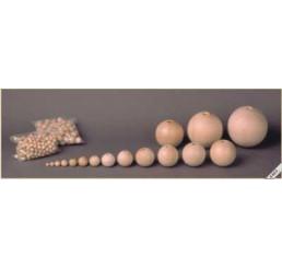 Zakje houten kralen 30 stuks, 10mm