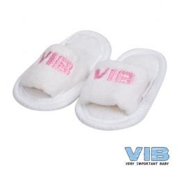 Baby Slipper 'VIB' Wit+Roze