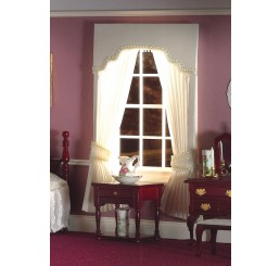 Cream Pleated Curtains with Pelmet