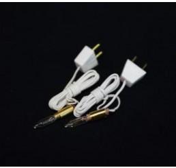 Kaarslampjes met draad/stekker, 2 stuks