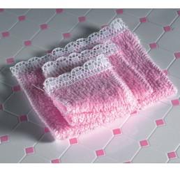 handdoekset in roze, 4 stuks
