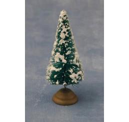 Kerstboom met sneeuw, 8cm