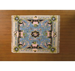 Vloerkleed blauw groen 20 x 17 cm (l x b)