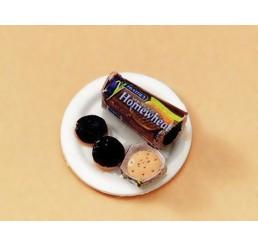 Rol koekjes op bord, handgemaakt artikel