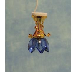 Lily hanglamp, blauw glas