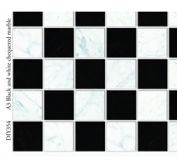 Vloer Black & wit ChequeRood