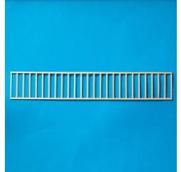 Eenvoudige houten railing