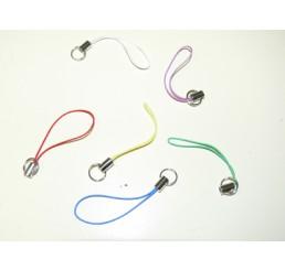 6 Telefoonhangers diverse kleuren