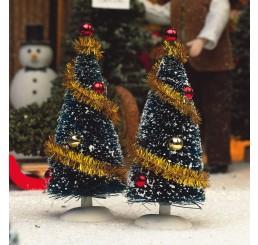 Kerstboom met decoratie, per 2 st.