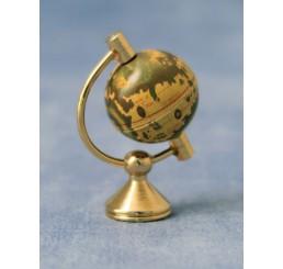 Globe op koperen standaard