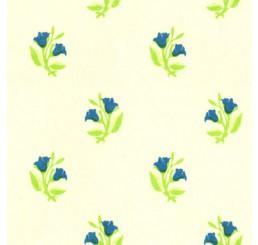 Poppenhuis behang Rosebud, blauw