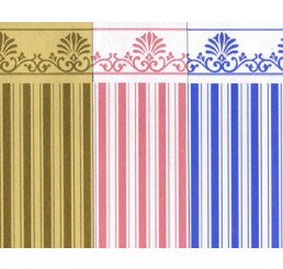 Behang Paars/wit