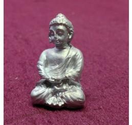 Zilveren buddha