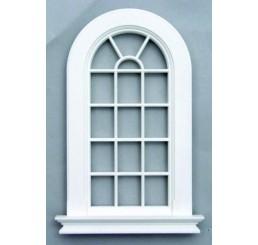 Gebogen raam in kunststof