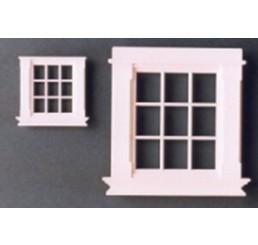 Georgiaans raam met 9 ruiten