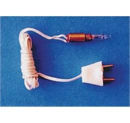 kaarslamp met draad en stekker, 4 stuks