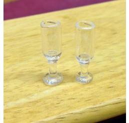 Wijn glazen, 2 stuks